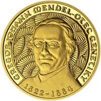 Johan Gregor Mendel - zlato Proof