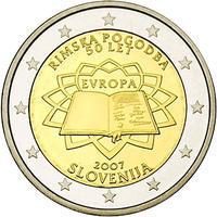 2007 2 Eur Slovinsko - Římské dohody - Cu/Ni Unc.