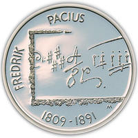 2009 100th birthday Fedrik Pacius Ag Proof