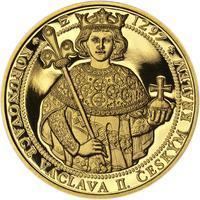 Korunovace Václava II. českým králem - zlatá Oz - PROOF