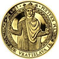 Korunovace Vratislava II. českým králem - zlatá Oz - PROOF