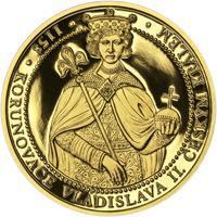 Korunovace Vladislava II. českým králem - zlato Proof