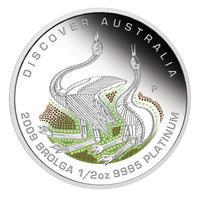 Australia Dreaming - Brolga Pt 1/2 Oz Proof - Platina