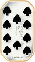 2009 Playing Card Money - Ten of Spades Silver Proof