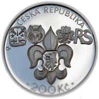 Mince ČNB - 2012 b.k. - 200 Kč  Založení Junáka