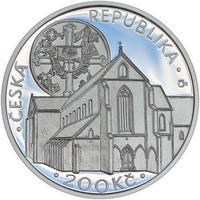 Mince ČNB - 2013 Proof - 200 Kč Založení klášteru Zlatá koruna