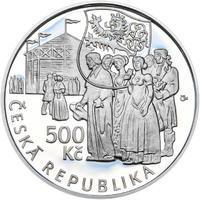 Mince ČNB - 2015 Proof - 500 Kč Václav Thám