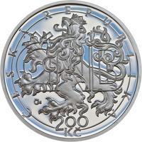 Mince ČNB - 2013 Proof - 200 Kč 20 let ČNB a české měny