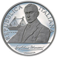 2009 100th Ann. of the Nobel prize to Marconi Silver Proof