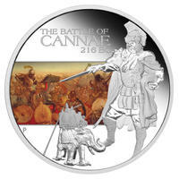 The Battle of Cannae 216 BC 1 Oz  Ag Proof Tuvalu 2009