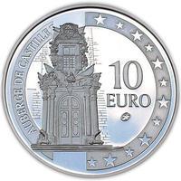 Auberge de Castillia Silver Proof 10 Eur Malta 2008