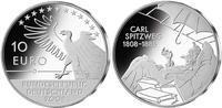 2008 Carl Spitweg 200th Birthday Silver Proof 10 Eur