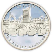 2007 Saarland Silver Proof 10 Eur