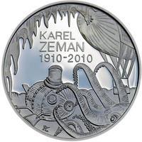 Mince ČNB - 2010 b.k. - 200 Kč 100. výročí narození Karel Zeman
