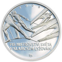 Mince ČNB - 2009 Proof - 200 Kč Mistrovství světa v Klasickém lyžování