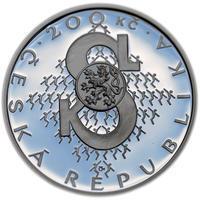 Mince ČNB - 2012 b.k. - 200 Kč  Založení Sokola