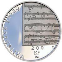 Mince ČNB - 2010 b.k. - 200 Kč 150. výročí narození Gustava Mahlera
