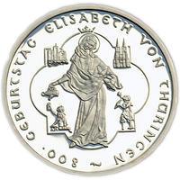 2007 Elisabeth von Thüringen Silver Proof 10 Eur