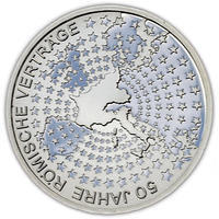 2007 Roman Treaty Silver Proof 10 Eur