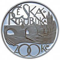 Mince ČNB - 2007 - Proof - 650. výročí  položení základního kamene Karlova mostu