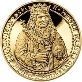 550 let od korunovace Jiřího z Poděbrad českým králem - zlatá Oz - PROOF - 1