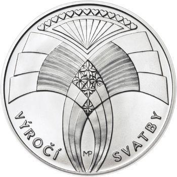 Výročí svatby 25 mm stříbro b.k. - 1