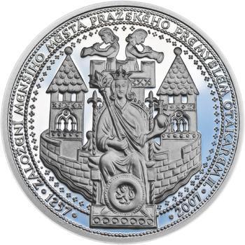 750 let od založení Menšího Města pražského Přemyslem Otakarem II. - stříbro Proof - 1