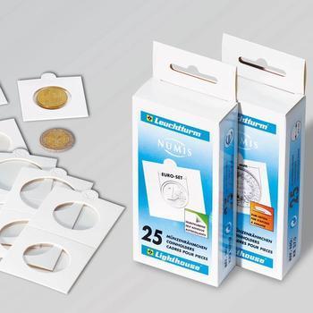 Papírové rámečky na mince do 22.5 mm