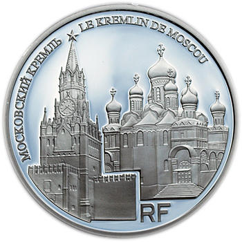 UNESCO Moskevský Kreml 10 Eur Francie 2009 Ag Proof - 1