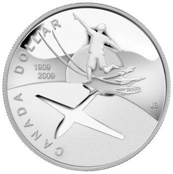 2009 100th Ann. Flight in Canada Ag B.U. Dollar brillant hors-circulation - 1