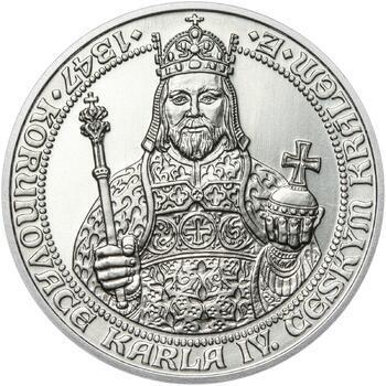 660 let od Korunovace Karla IV. českým králem - stříbro b.k. - 1