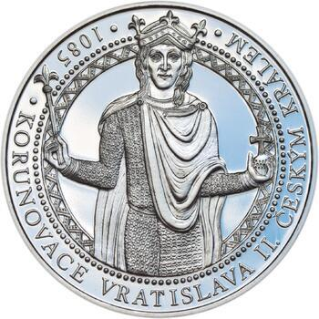 Korunovace Vratislava II. českým králem - stříbro Proof - 1