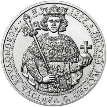 Korunovace Václava II. českým králem  - stříbro b.k. - 1