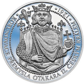 Korunovace Přemysla Otakara II. českým králem -  stříbro Proof - 1