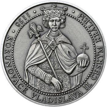 Korunovace Vladislava II. českým králem - stříbro patina - 1