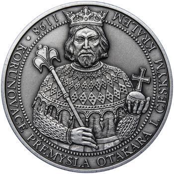 810 let od korunovace Přemysla Otakara I. českým králem - stříbro patina - 1