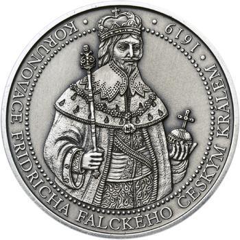 Korunovace Fridricha Falckého českým králem - stříbro patina - 1