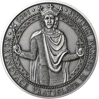 Korunovace Vratislava II. českým králem - stříbro patina - 1