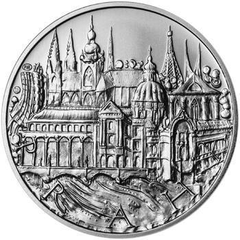 Praha - stříbro 1 Oz b.k. - 1