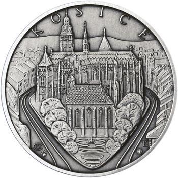 Košice - stříbro 1 Oz patina - 1