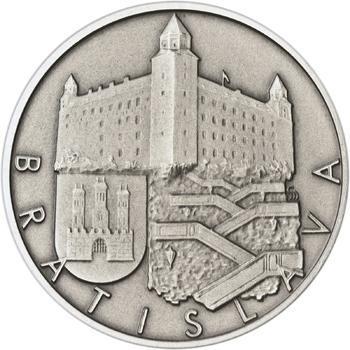 Bratislava - stříbro 1 Oz patina - 1