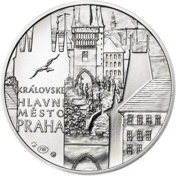 Královské hlavní město Praha - stříbro 28 mm b.k. - 1