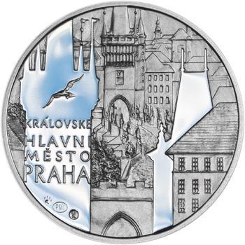 Královské hlavní město Praha - stříbro 28 mm Proof - 1
