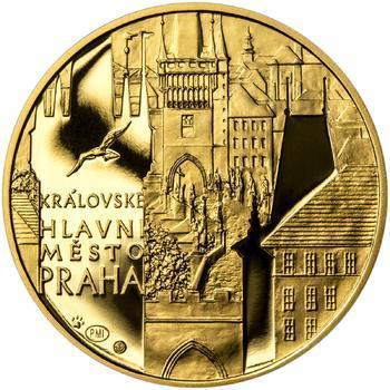 Královské hlavní město Praha - zlato 1 Oz Proof - 1