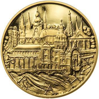 Praha - zlatá 1 Oz Proof - 1
