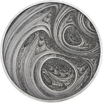 Fraktály II. - stříbro patina - 1