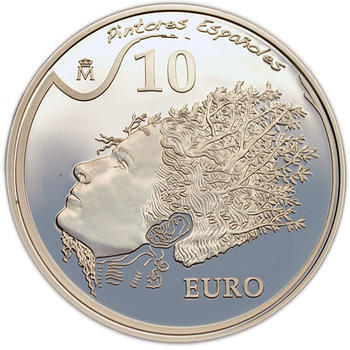 2009 Portrait of Gala 10 Eur Spanish Painters: Salvador Dalí Ag Proof - 1