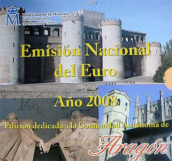 Sada mincí Španělsko 2008 Unc - Aragon - 1