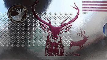 """2009 Oběhové mince Švýcarsko Proof """"Red Deer"""" - 1"""