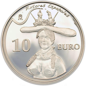 2009 Bust of a woman 10 Eur Spanish Painters: Salvador Dalí Ag Proof - 1